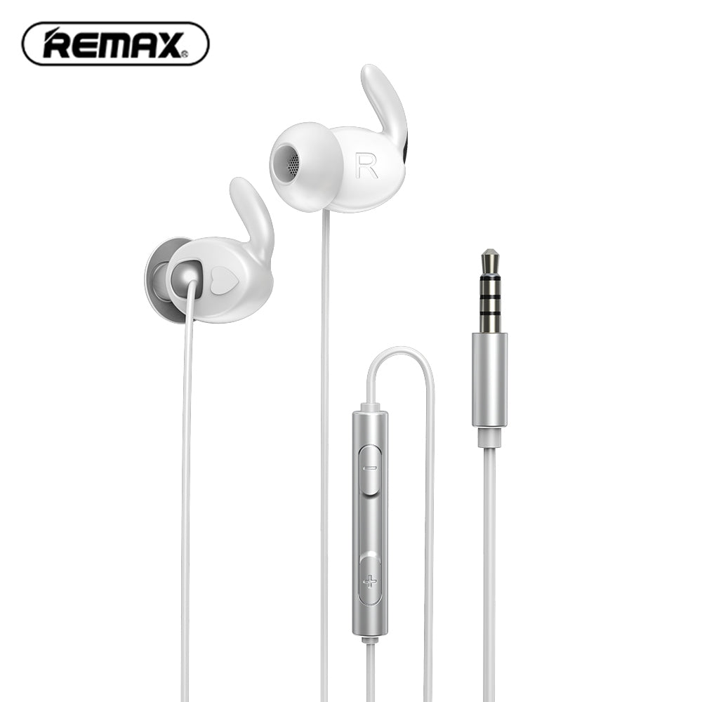 REMAX RM - 625 Metal Wired Half In-ear Earphones with Soft Silicone Ear Caps