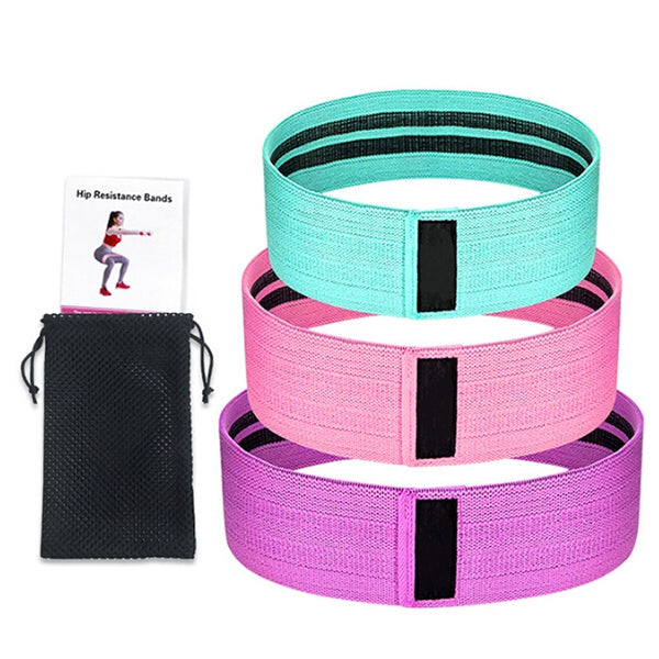 Tension Resistance Bands Yoga Natural Latex Exercise Bands Resistance Band 3pcs