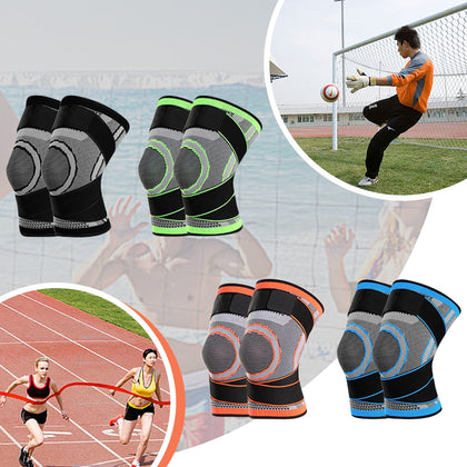 Breathable Elastic Knees Pad with Elastic Fixing Belt
