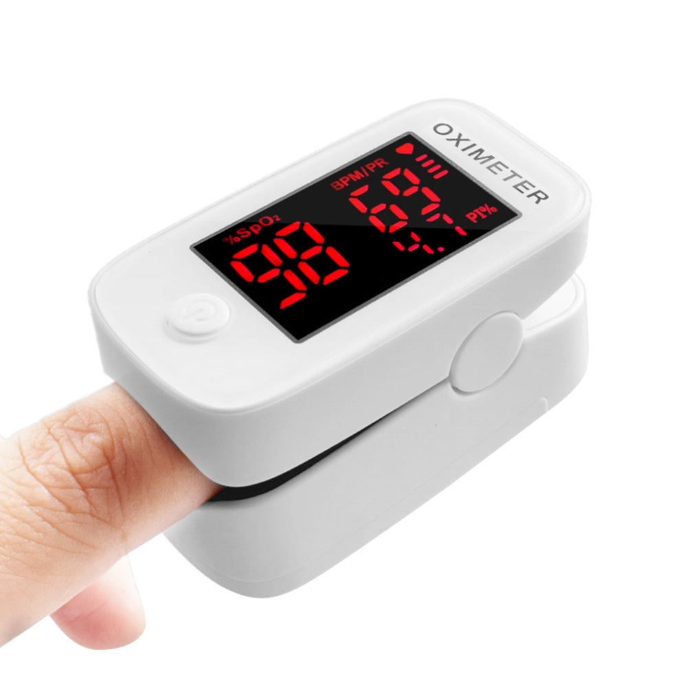 Portable Finger Pulse Oximeter Blood Oxygen Saturation Monitor 1.5'' Display 8s Fast Measurement