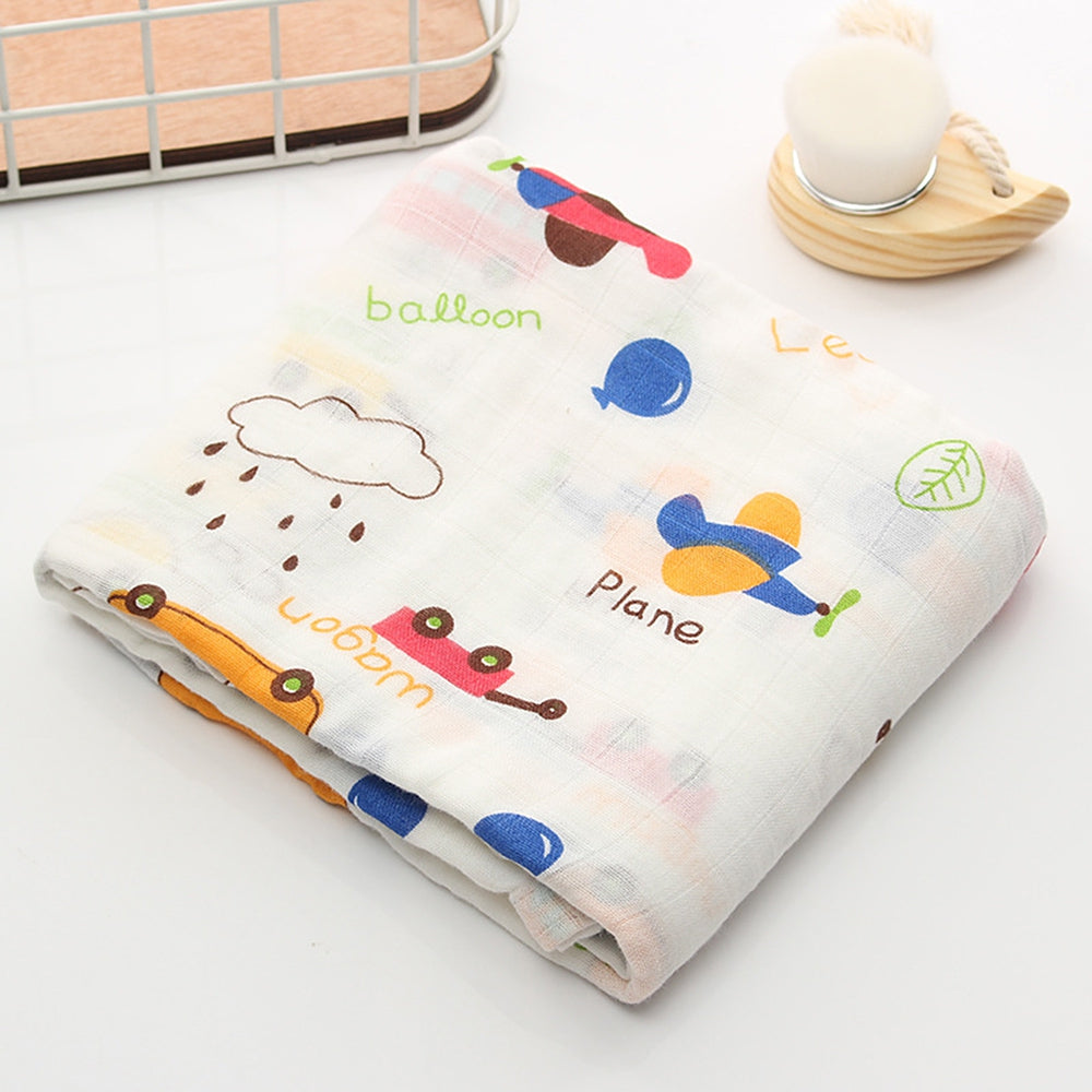Lovely Print Baby Muslin Swaddle Blanket Infant Swaddling Towel