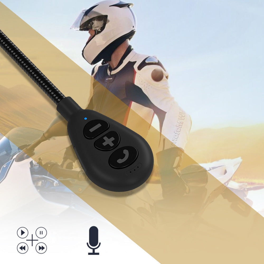 MH05 Motorcycle Helmet Bluetooth 5.0 Headset Stereo Waterproof Headphone with Automatically Answer Calls Function