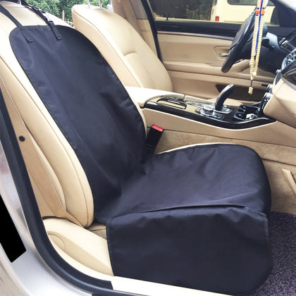 Car Front Passenger Water-resistant Pet Dog Seat Cushion with Small Side Panels