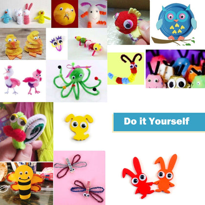 150PCS Self-sticking Wiggle Eyes for Kids DIY Crafts Accessories