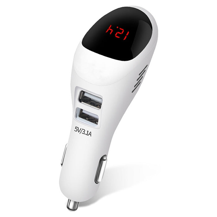 Car Multifunctional Anion Air Purifier Phone Charger Two USB Display