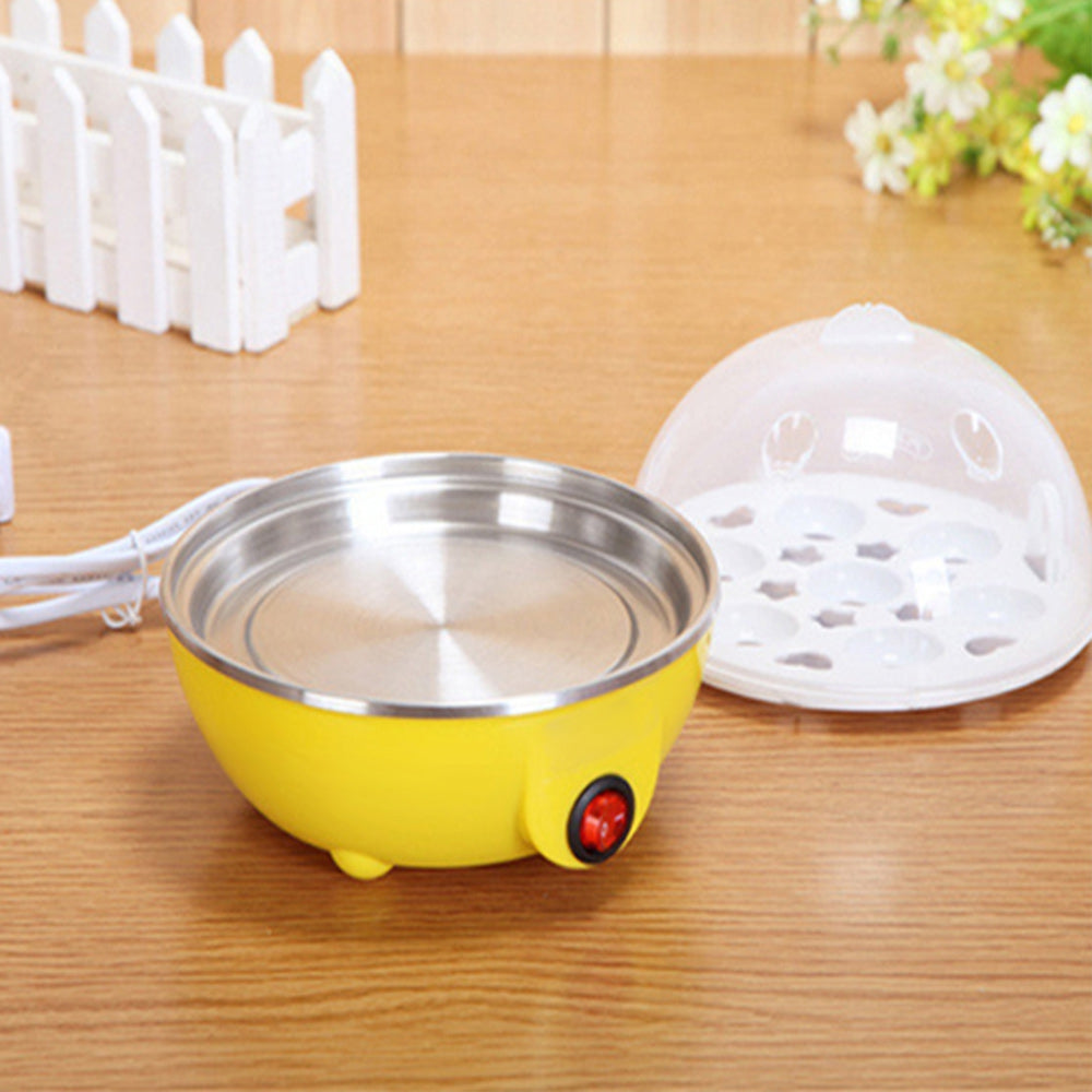 Mini Multifunctional Egg Steamer Single Layer 7-egg Boiler Smart Fast Cooking Auto Power-off Design