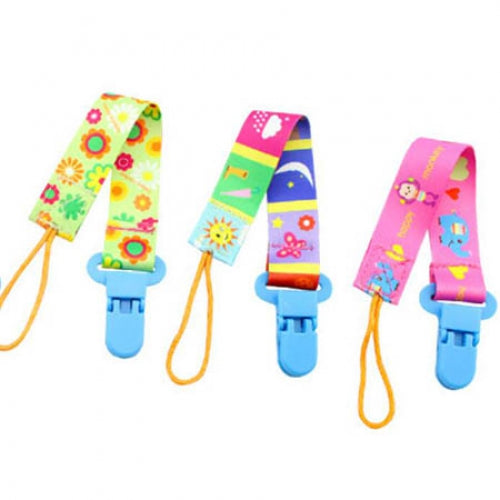Baby Pacifier Anti-drop Chain Clip Plush Pacifier clamp Rope 3pcs