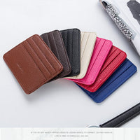 Baellerry PU Leather Ultra Slim Card Cash Coin Holder Large Capacity Wallet