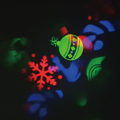 New High Quality LED Projector Flashlight Landscape Outdoor Xmas Party Garden Film Lamp 4 Pattern
