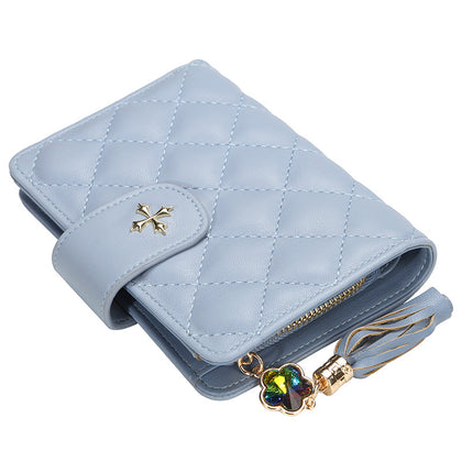 Guapabien PU Leather Women Wallet Zipper Tassel Cash Coin Pocket