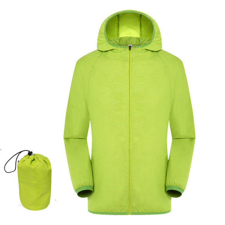 Outdoor Sport Hiking Camping Quick Dry Waterproof Breathable Jacket Lightweight Coat with Pocket