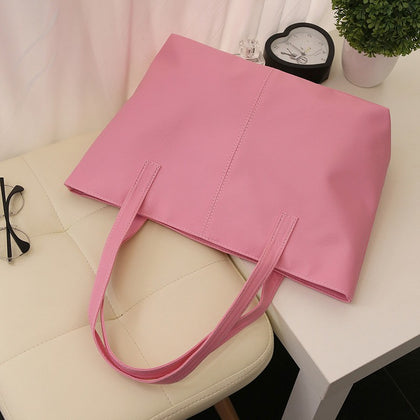Guapabien Fashionable Pure Color Zipper Type PU Leather Women Bag