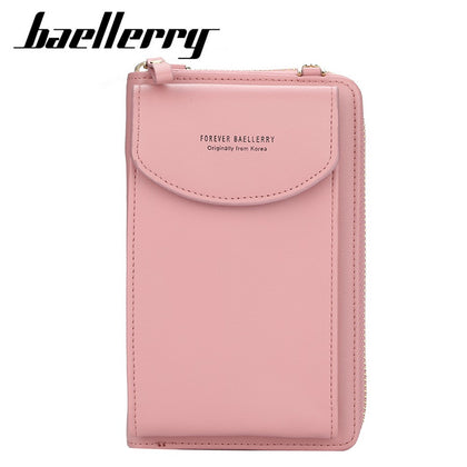Baellerry New Leather Multi-function Women Crossbody Clutch Bag