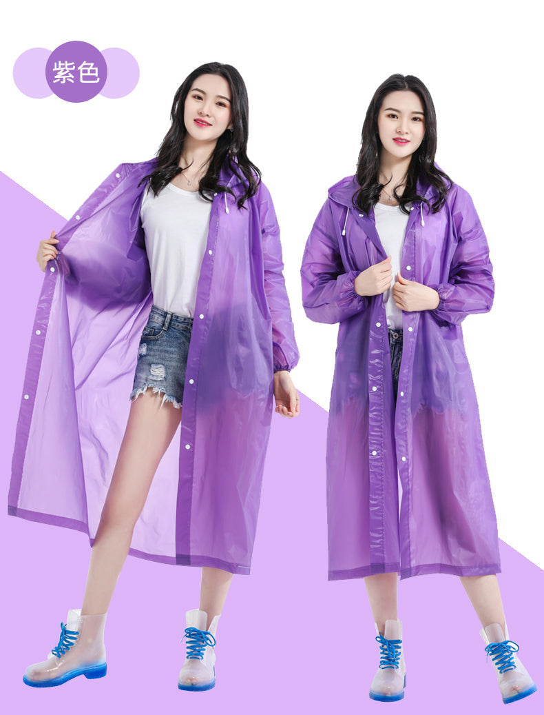 Non-disposable Protective Raincoat EVA Thickened Lightweight Outdoors for Adult