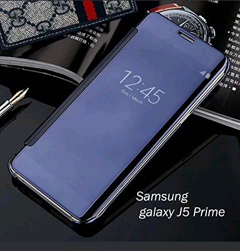 promo code f2dc0 9ef26 Samsung J5 prime - New Luxury Smart Semi Clear View Mirror Flip Cover For  Samsung galaxy J5 Prime
