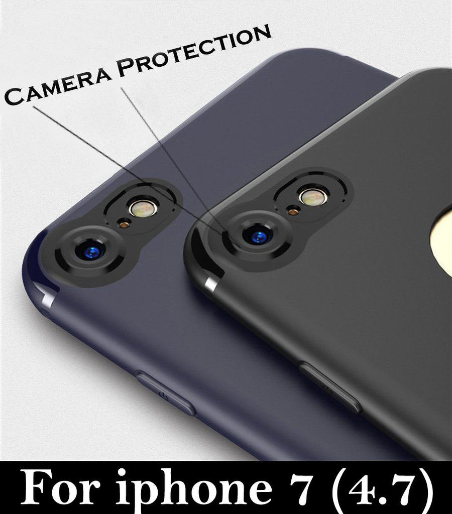 f1d8d16eae ... Soft Silicone With Anti Dust Plugs [CAMERA PROTECTION] Shockproof Slim  Back Cover Case For ...