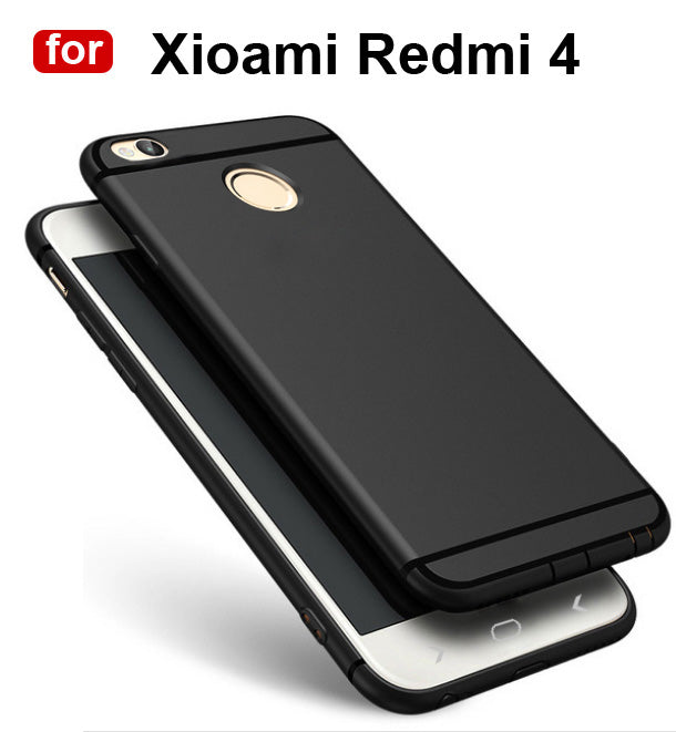 sports shoes de216 27f57 Xiaomi Mi Redmi 4 - 360 Degree Soft Silicone With Anti Dust Plugs  Shockproof Slim Back Cover For Xioami MI Redmi 4 (MAY 2017 Launch) (BLACK  WITH ...
