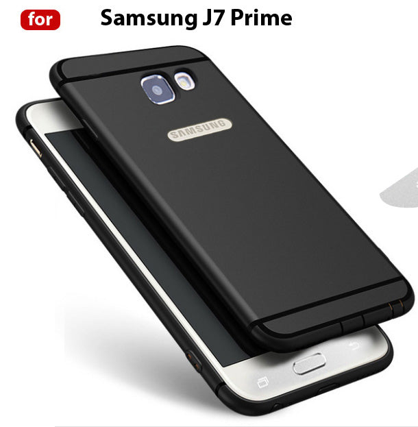 wholesale dealer 16178 8358f Samsung j7 prime - 360 Degree Soft Silicone With Anti Dust Plugs Shockproof  Slim Back Cover For Samsung J7 Prime (BLACK WITH SHINING LINE)
