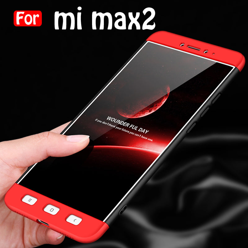 more photos 3cb32 8269f For Xiaomi Mi Max 2 - 360 Degree Full body slim Protection Case Dual Armor  Hard Hybrid PC Matte Phone Cover For Xiaomi Mi Max 2 (RED-BLACK)