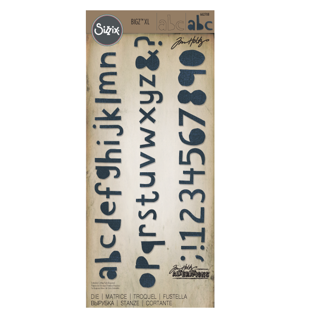 Tim Holtz Sizzix Bigz XL Alphabet Die - Cutout Lower
