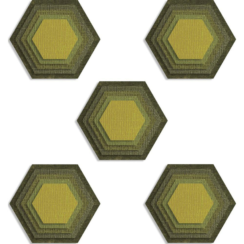 Tim Holtz Sizzix Thinlits - Stacked Tiles, Hexagons