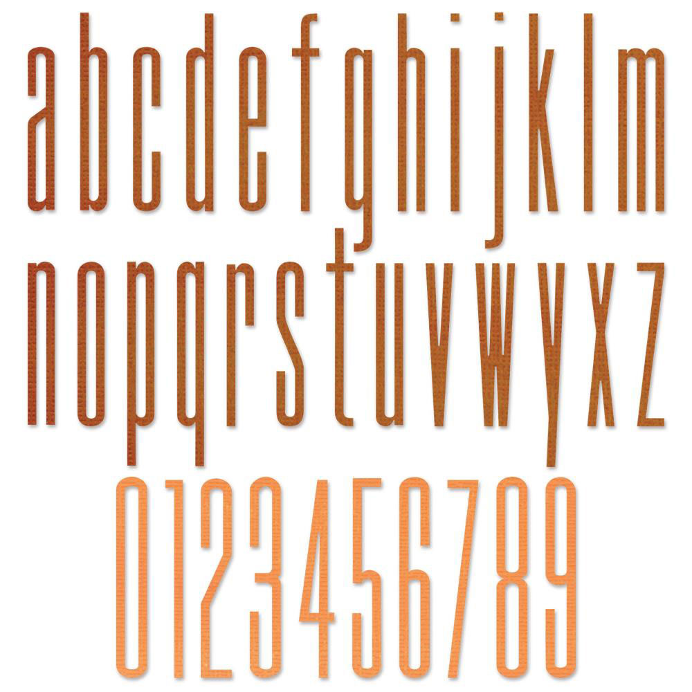 Tim Holtz Sizzix Thinlits - Stretch Lowercase Letters and Numbers