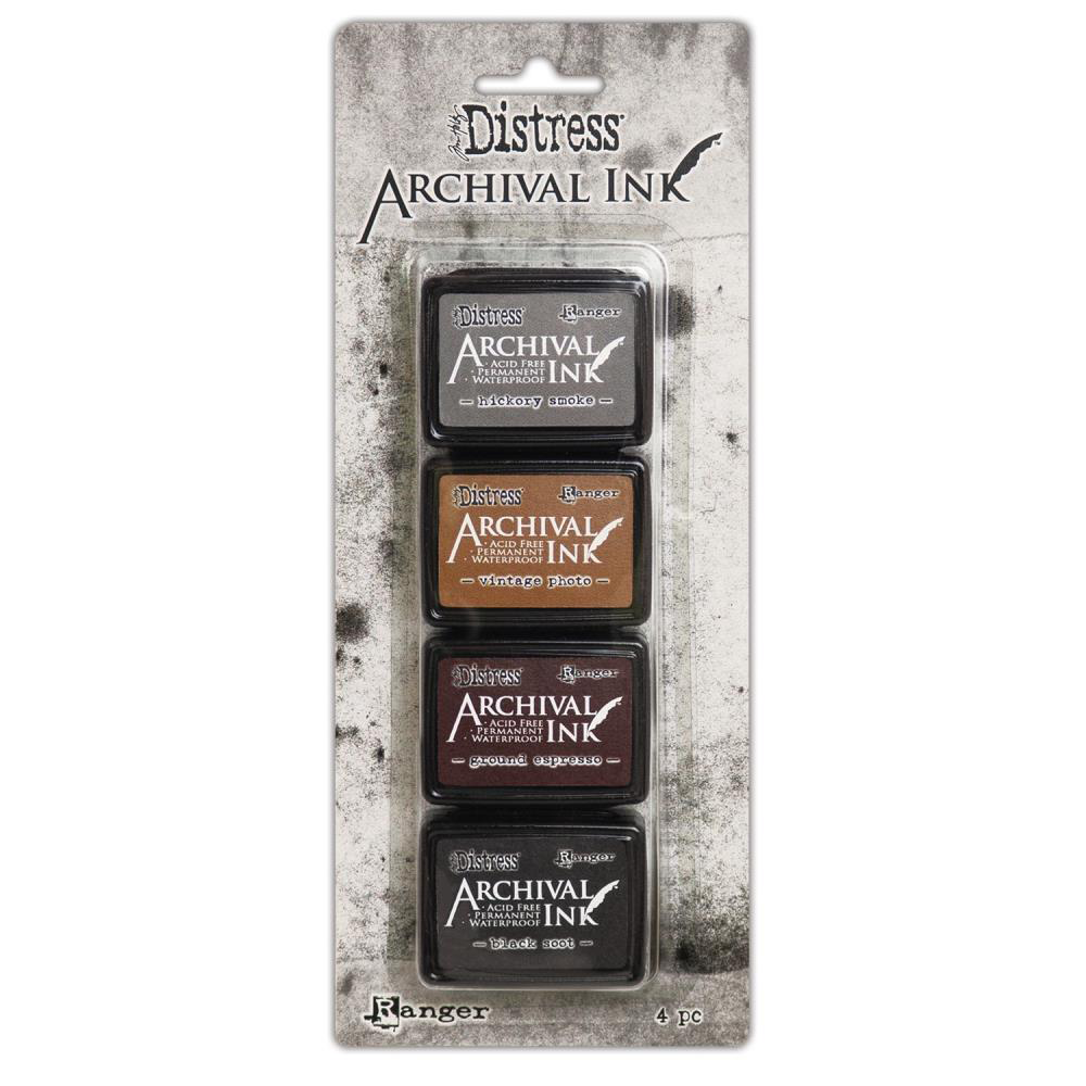 Tim Holtz Distress Archival Mini Ink Pads - Neutral Kit