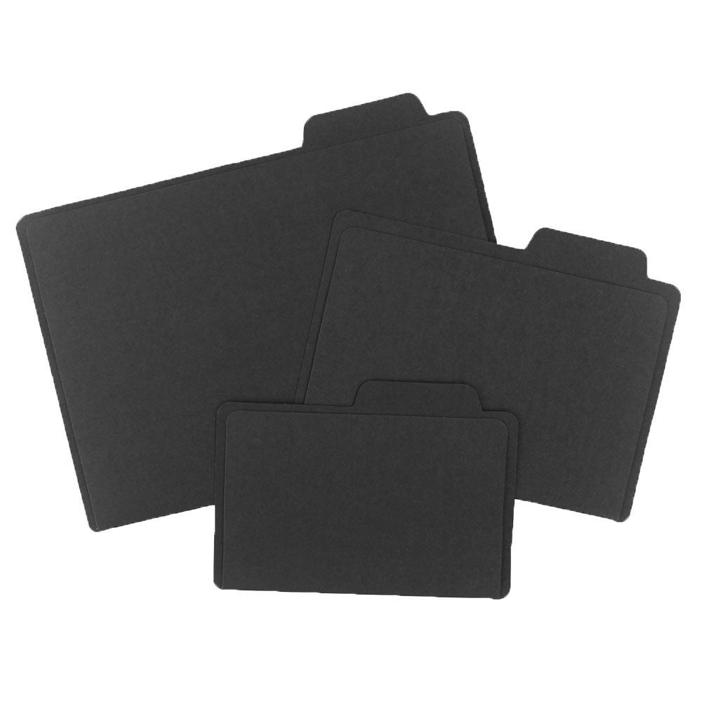 Black File Folders Set