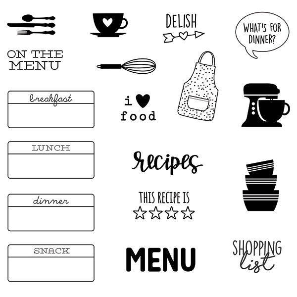 On the Menu Clear Stamp Set