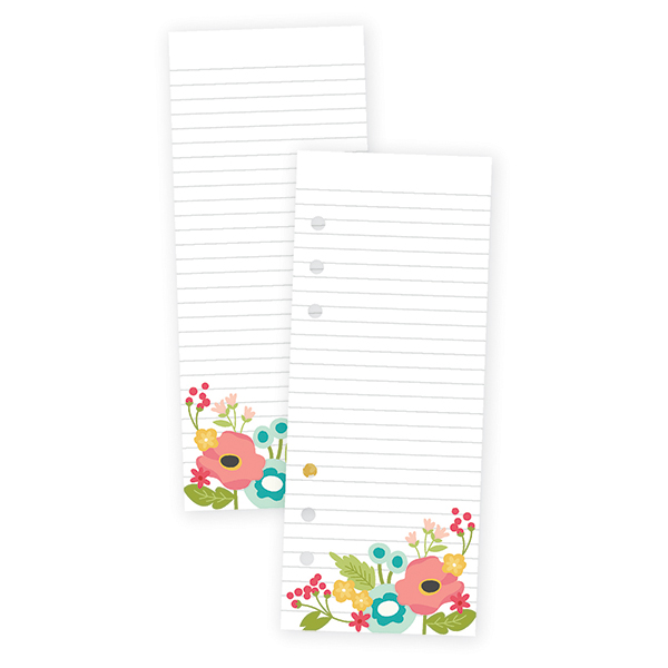 Floral Bookmark Tablet for A5 Planners