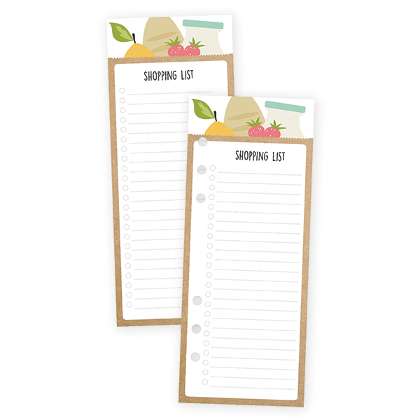 Shopping List Bookmark Tablet for A5 Planners
