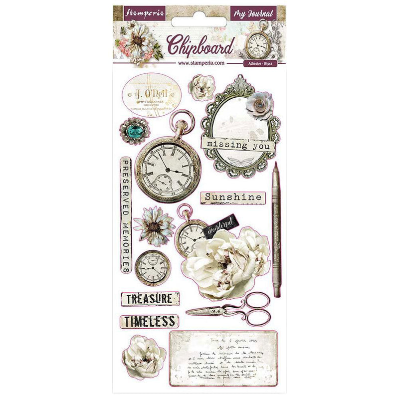 Romantic Journal 6x12 Chipboard Stickers