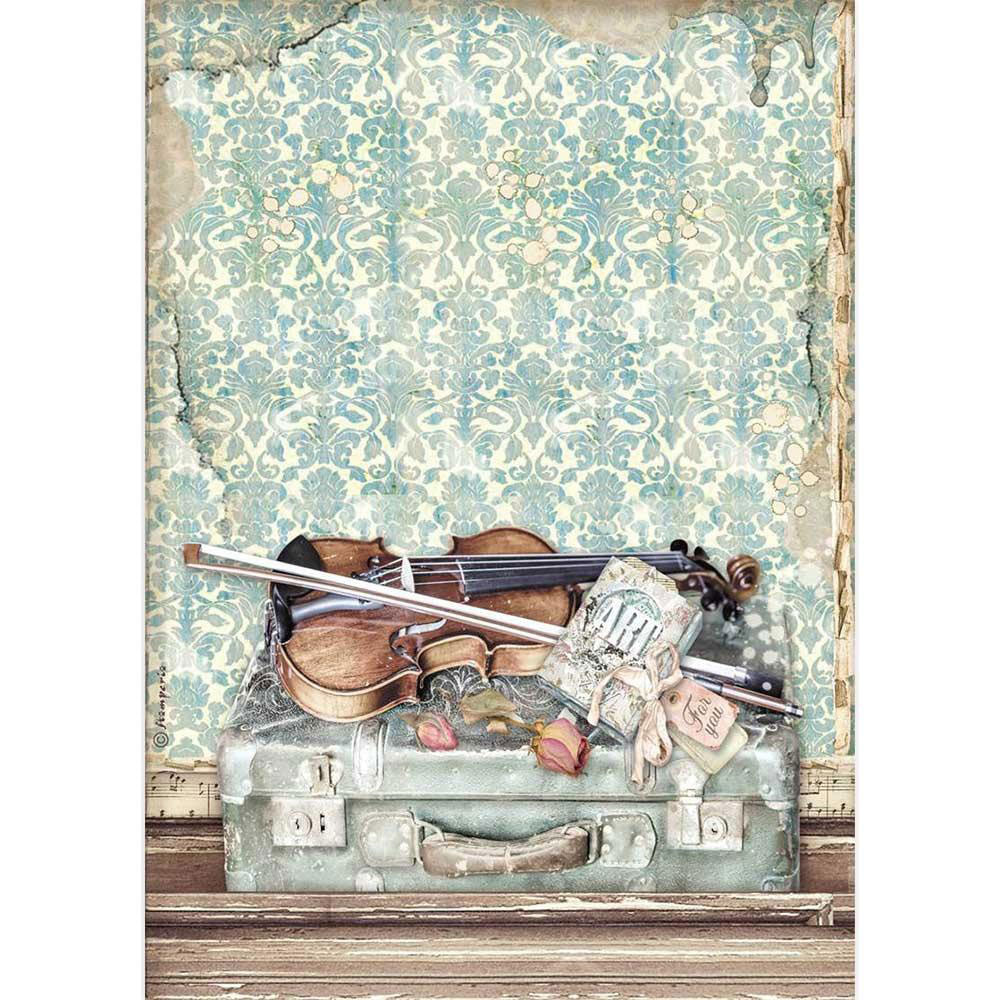 Passion Violin & Travel A4 Decoupage Rice Paper
