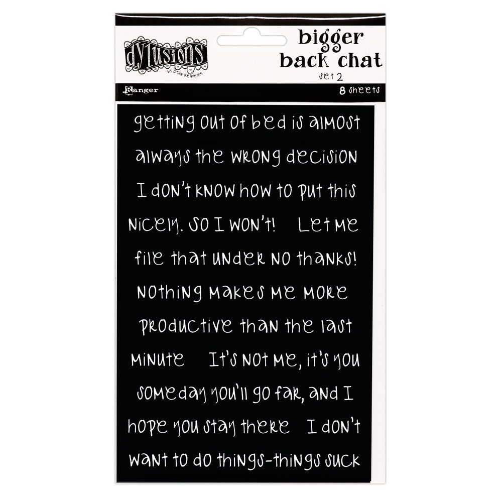 Dylusions Black Bigger Back Chat Stickers 2