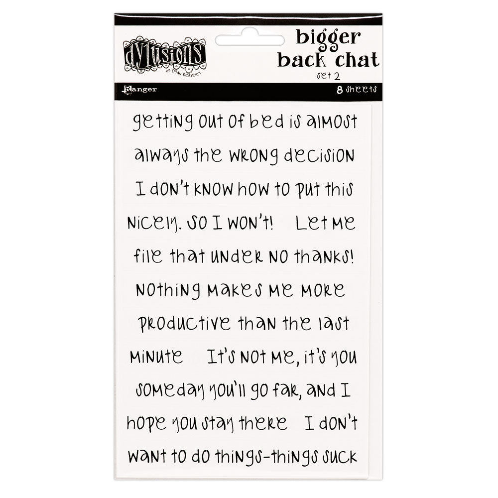Dylusions White Bigger Back Chat Stickers 2