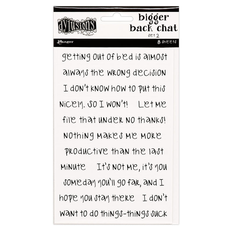 Dylusions Bigger Back Chat - White 2