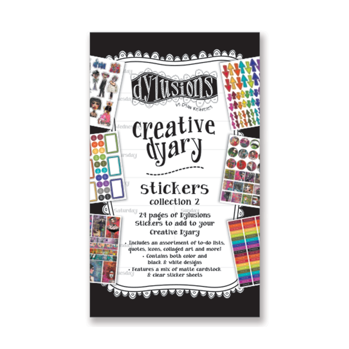 Dylusions Creative Dyary Stickers - Collection 2