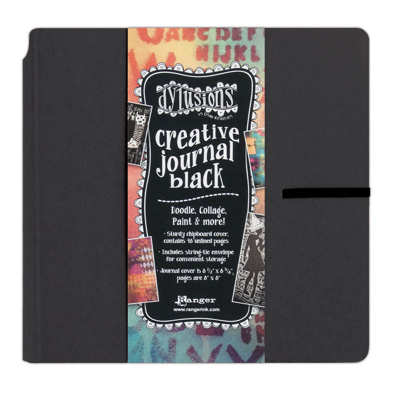 Dylusions Square Black Creative Art Journal
