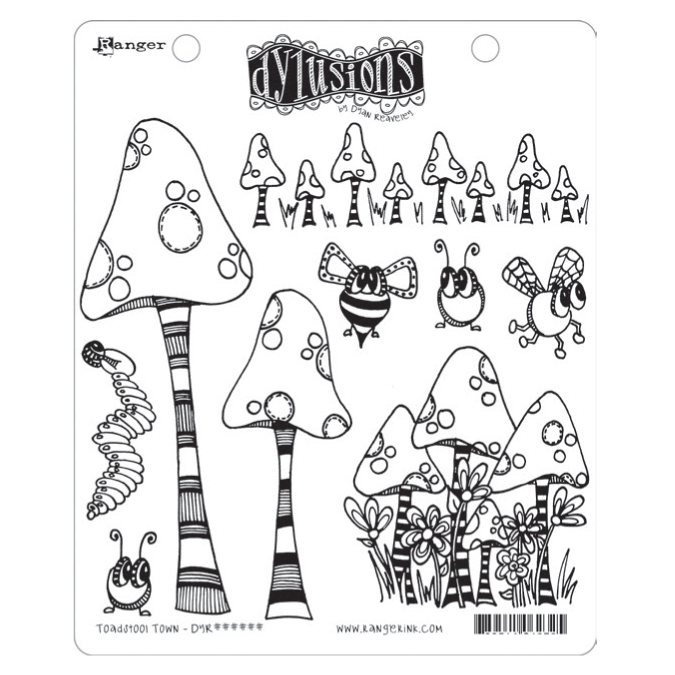 Toadstool Town - Dylusions Stamps - DYR63254