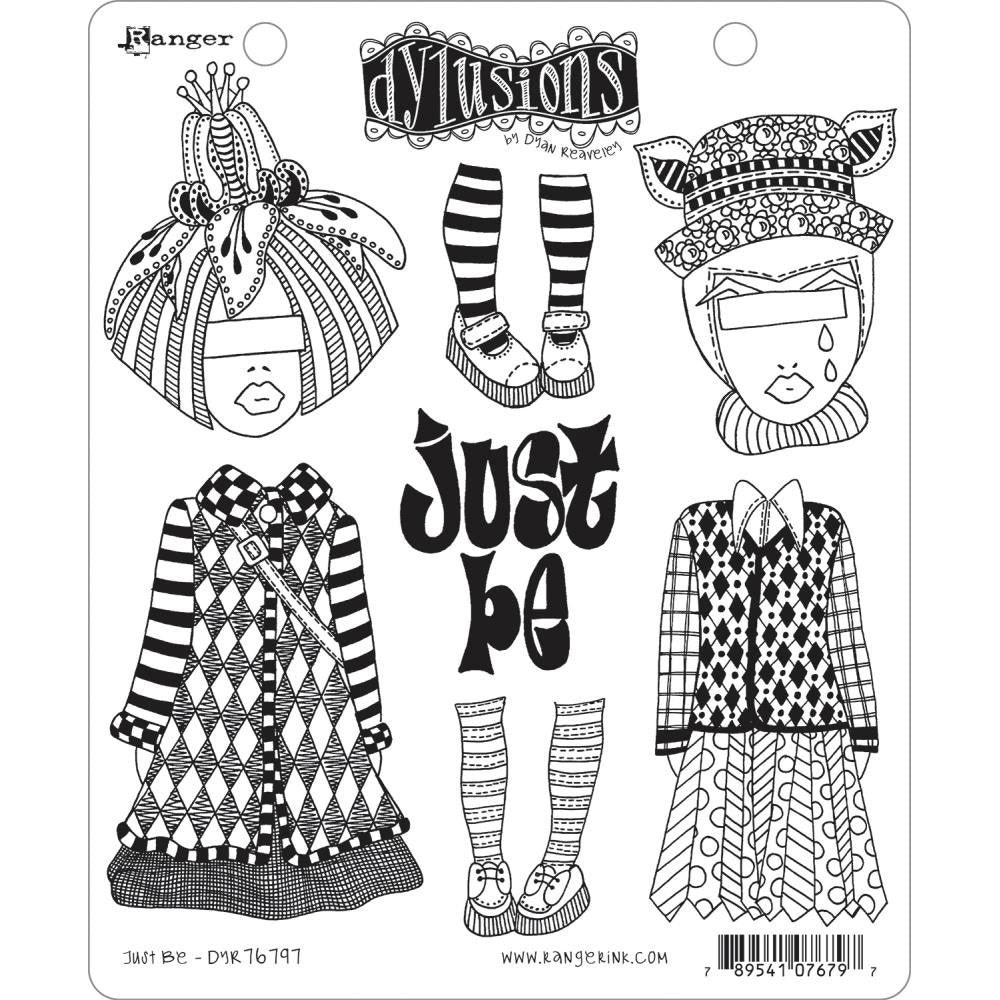 *Reserve*  Dylusions Stamp Set - Just Be