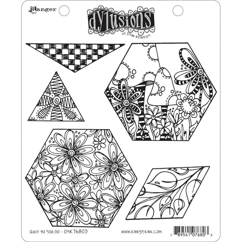 Dylusions Stamp Set - Quilt As You Go