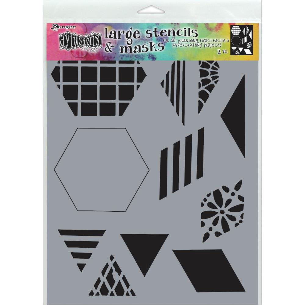 "Dylusions Large 2"" Quilt Stencil"
