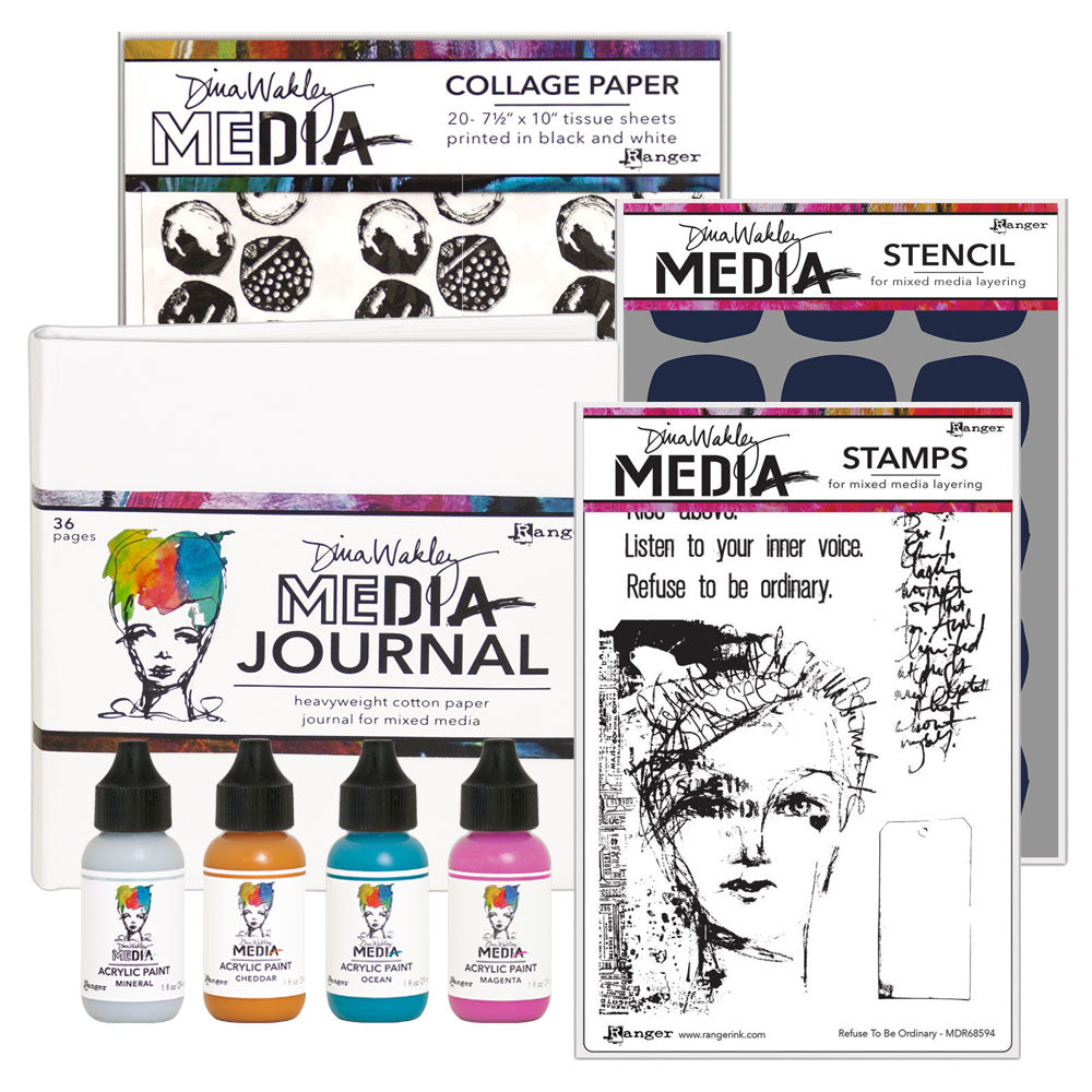 Dina Wakley Media - A Year of Gratitude kit