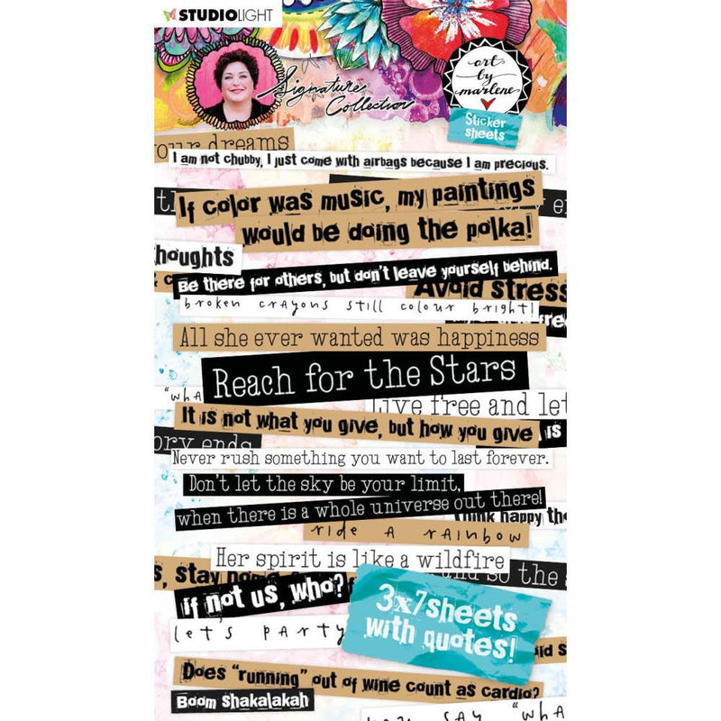 Art by Marlene Quotes Sticker Book