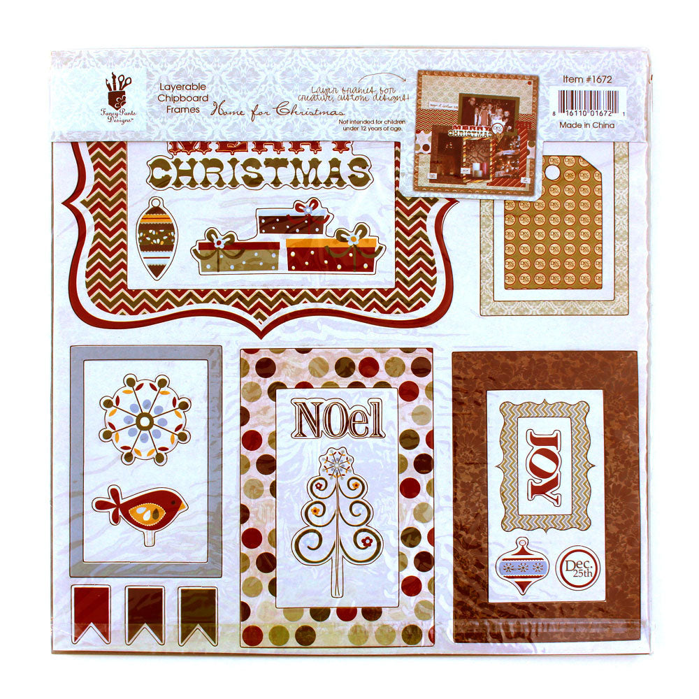 Fancy Pants Christmas Layerable Chipboard Frames - Discontinued - Available while Supplies Last