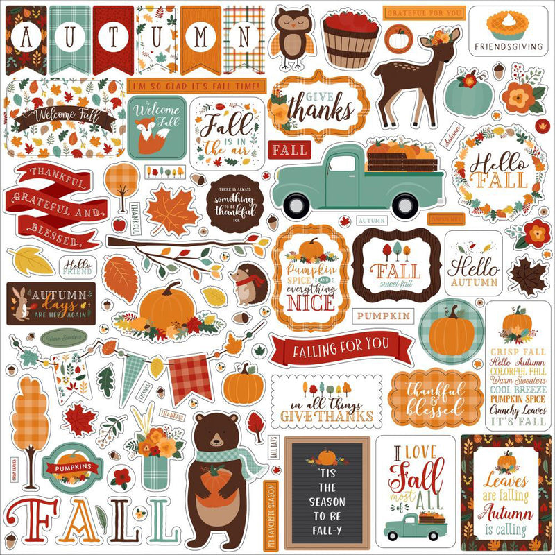 Happy Fall 12x12 Collection Kit