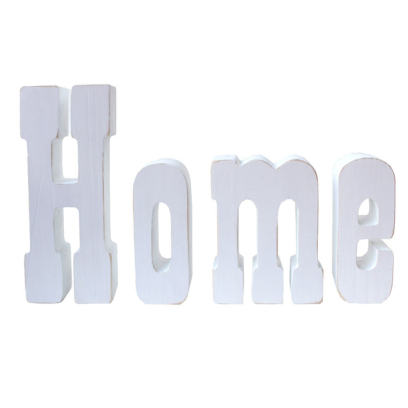 DIY unfinished wooden Home letters