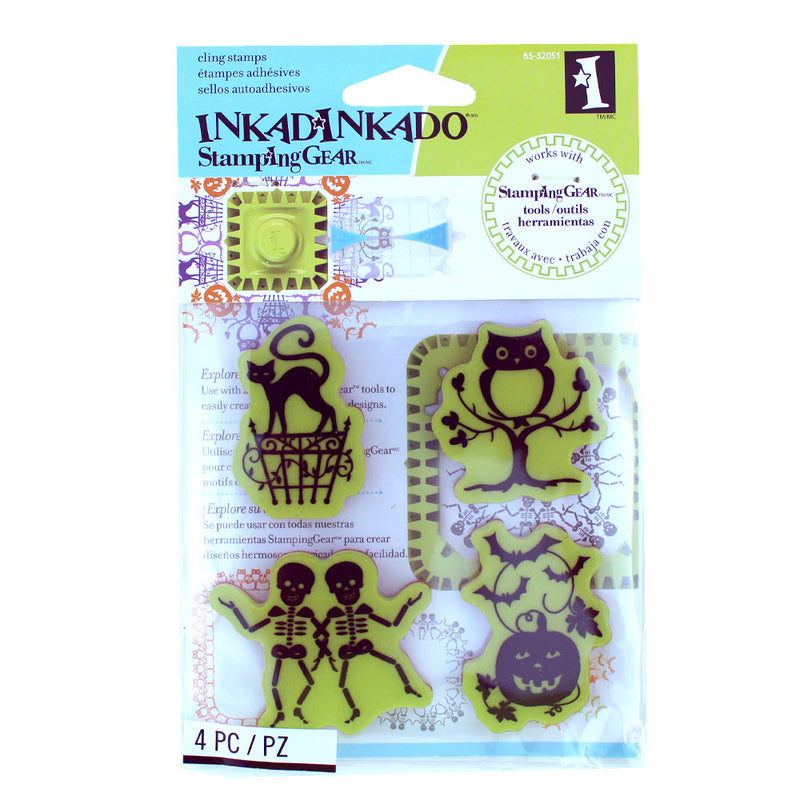 Inkadinkado Halloween Icons Stamp Set - Available while Supplies Last