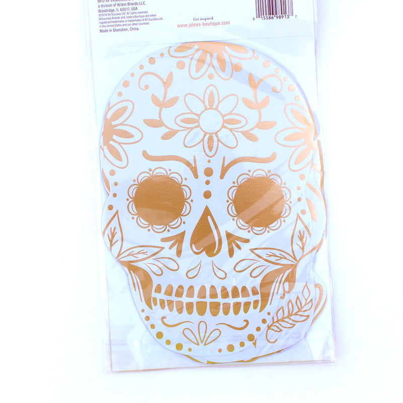 Halloween Foiled Die Cut Skulls - Discontinued - Available while Supplies Last