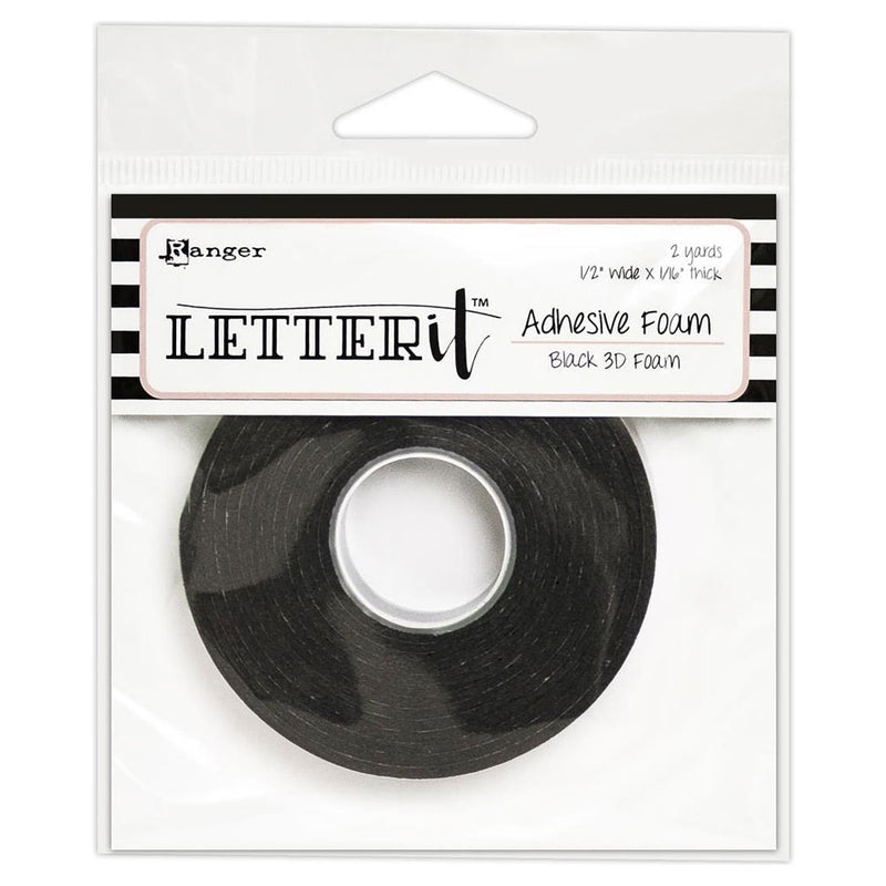 Letter It™ Black Adhesive 3D Foam Tape